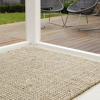 White Wool and Jute Rugs:- 2 Sizes Available