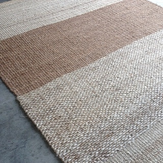 Multi Yarn Jute Abaca and Hemp Rug