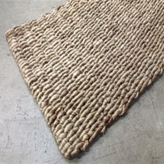 Coil Silver Jute Decorative Door Mats:- 3 Sizes Available