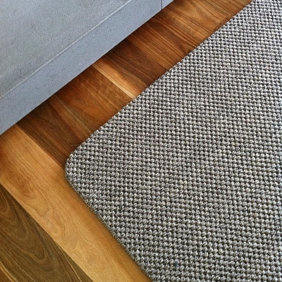 Custom Granite Rustic Sisal Rug With Tuck Under Border