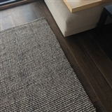 Custom Made Greystone Wool and Jute Rug
