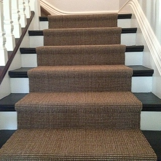 Mocha Sisal Installed On Underlay