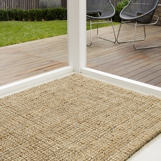 Knotted Natural and Silver Jute Rug:- Size 1.70 x 2.40 $450.00