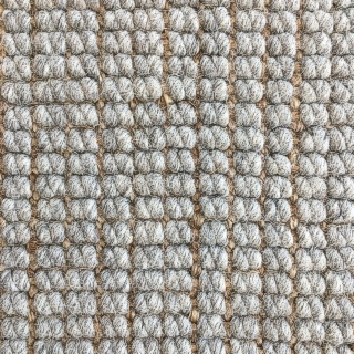 Misty Grey Wool and Jute Mix
