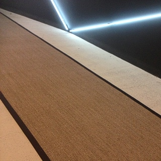 Custom Granite Rustic Sisal Runner with Black Border
