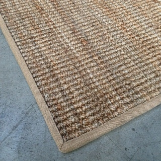 Heavy Ribbed Natural Jute With Hessian Border