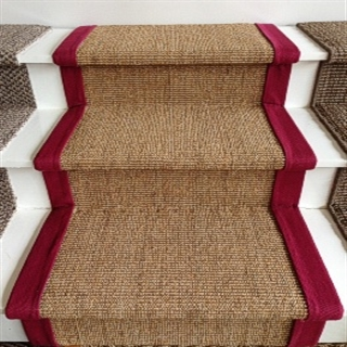 Showroom Stair Display with Red Cotton Border