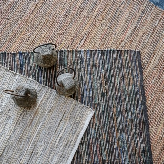 Multi-Colour Leather And Jute Rugs (IN STORE NOW)