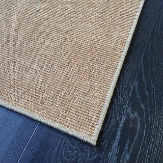 70cm x 1mtr Fine Ribbed Castlemaine Sisal with Latte Overlock Border $60