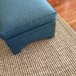 Custom Made Snowgum Wool and Jute Rug With 2 inch Lilydale Border